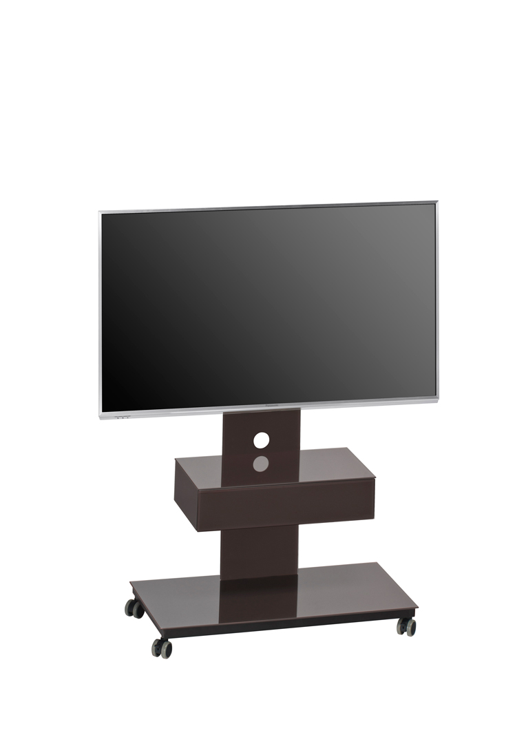meuble tv design m tal noir verre lave savina. Black Bedroom Furniture Sets. Home Design Ideas