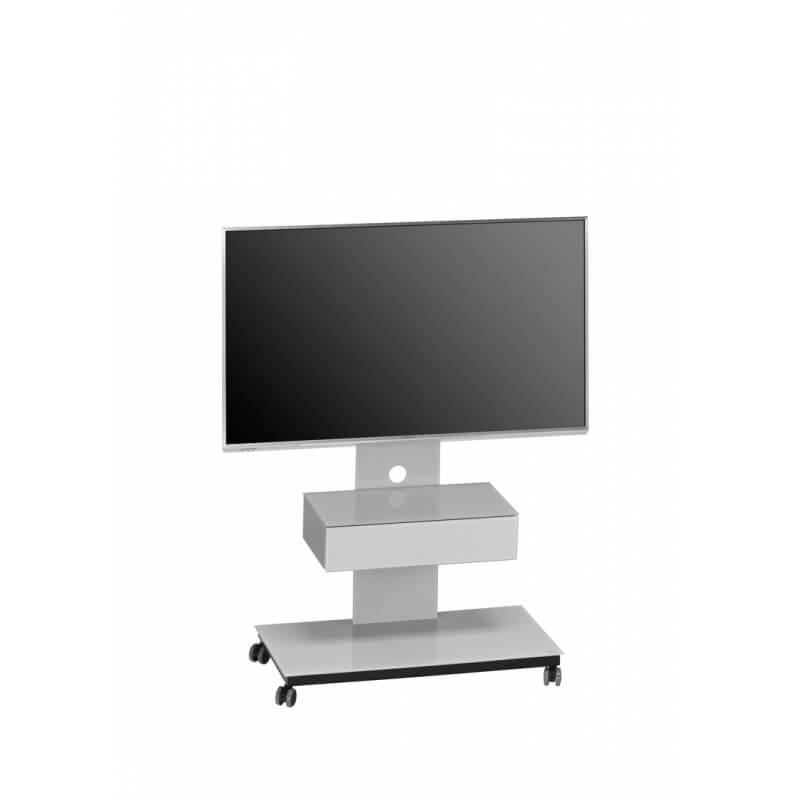 meuble tv design m tal noir verre gris platine savina. Black Bedroom Furniture Sets. Home Design Ideas
