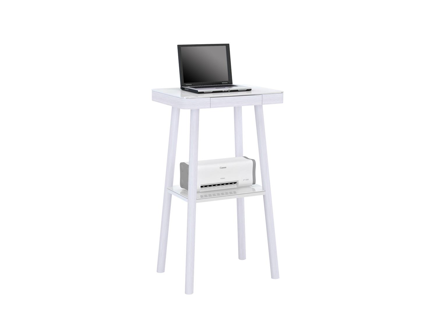 bureau pupitre design m tal alu verre blanc ryade. Black Bedroom Furniture Sets. Home Design Ideas