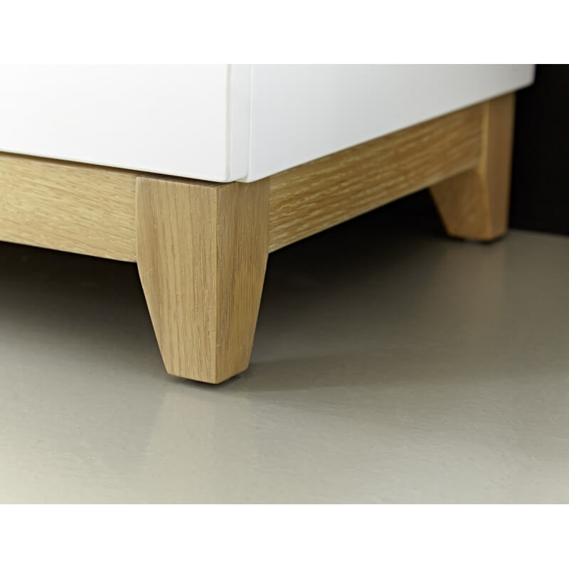 meuble tv design blanc laqu ch ne riviero. Black Bedroom Furniture Sets. Home Design Ideas
