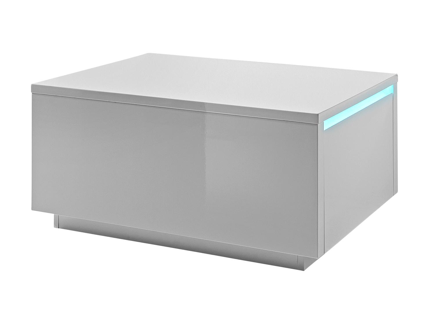 Éclairage Blanche Design Laquée Hidalgo Table Basse Carrée Avec shQrdtC