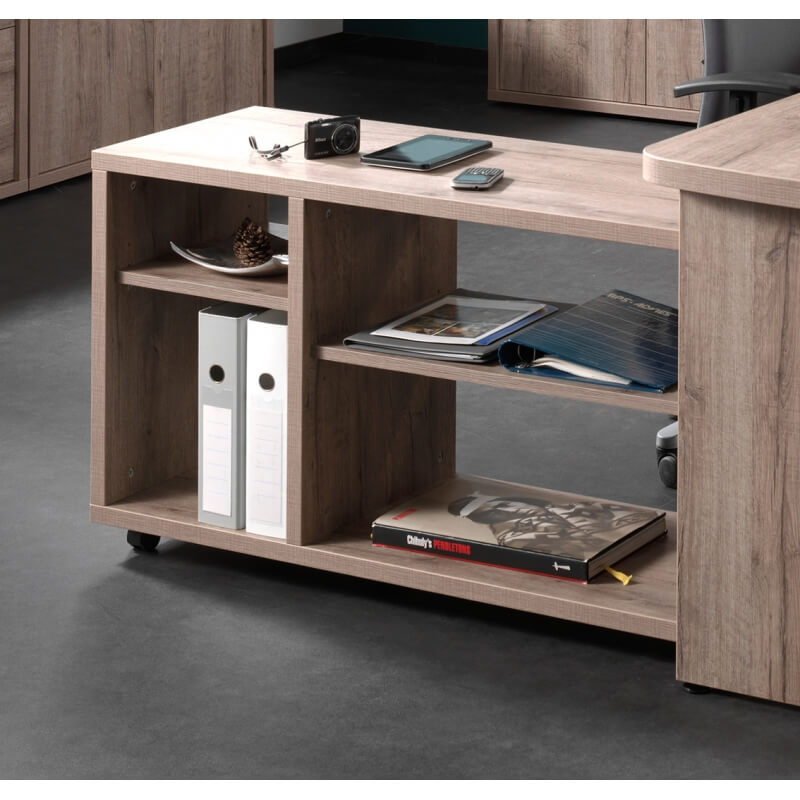 meuble de rangement contemporain sur roulettes ch ne canadien angelika. Black Bedroom Furniture Sets. Home Design Ideas