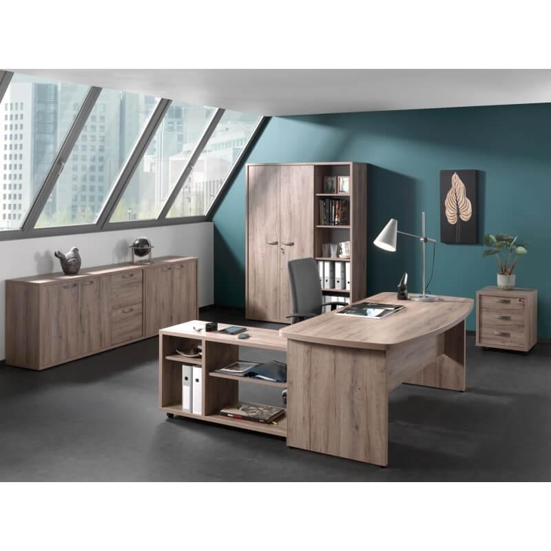 Armoire basse de bureau contemporaine 2 portes 2 tiroirs - Armoire basse de bureau ...
