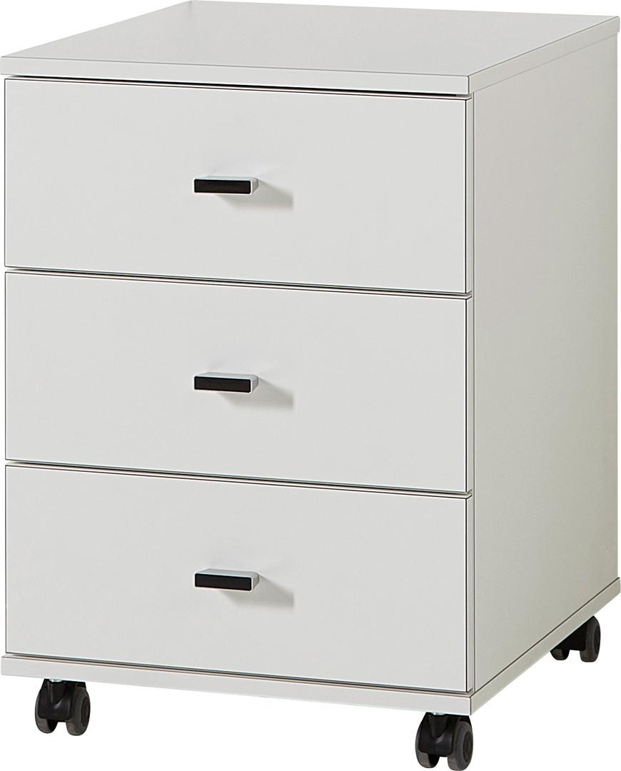 Caisson de bureau contemporain 3 tiroirs coloris blanc Monty