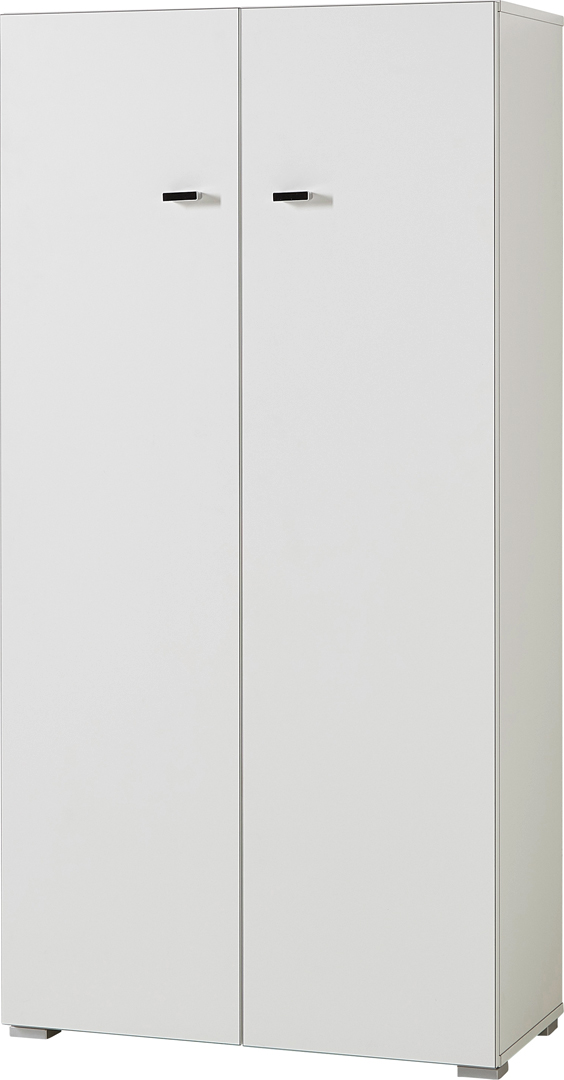 Armoire de bureau basse contemporaine coloris blanc Monty