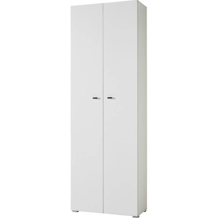 Armoire de bureau haute contemporaine coloris blanc Monty