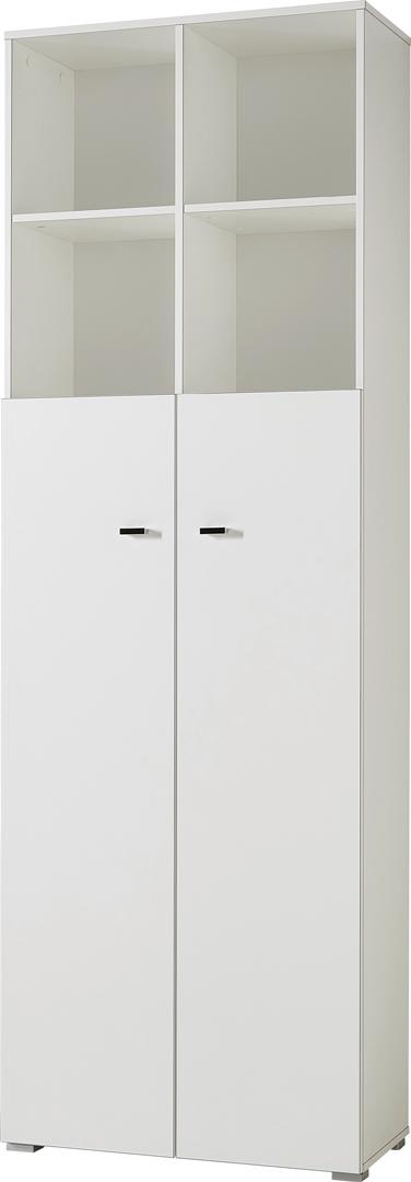 Armoire de bureau haute contemporaine coloris blanc Monty II