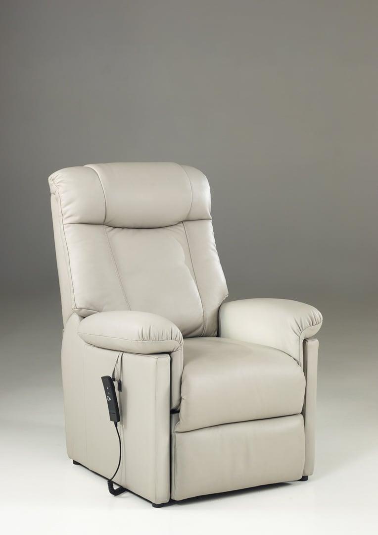 Fauteuil relaxation 100 % cuir électrique releveur repose-pieds intégré NOSIKA