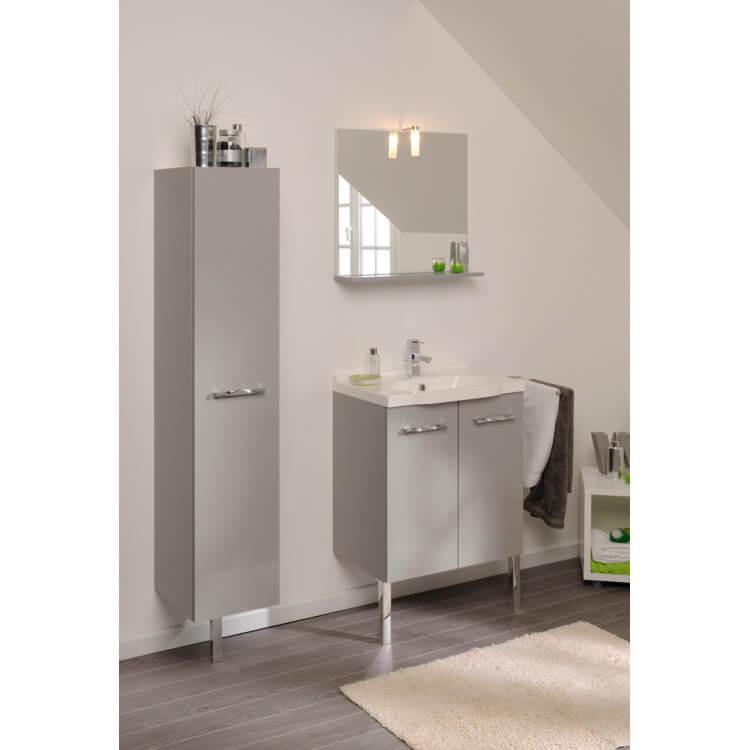 Ensemble de salle de bain contemporain complet gris clair Vanda