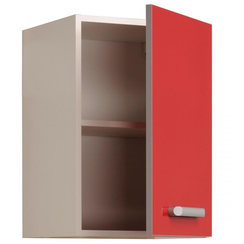meuble haut de cuisine contemporain 1 porte 40 cm blanc rouge brillant jackie matelpro. Black Bedroom Furniture Sets. Home Design Ideas