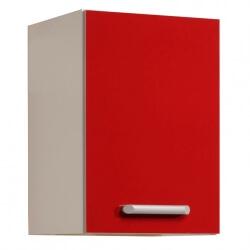 Meuble haut de cuisine contemporain 1 porte 60 cm blanc/rouge brillant Jackie