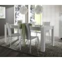 Table de salle à manger moderne blanche Agathe
