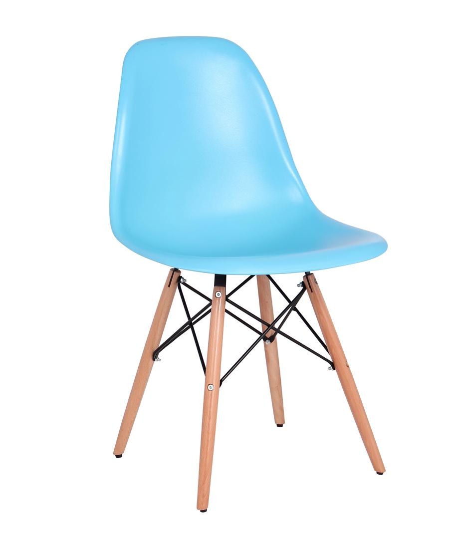 Chaise Design Bois PVC Coloris Bleu Lot De 2 Luberon