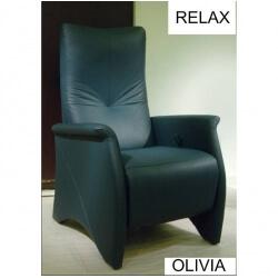 Fauteuil de relaxation cuir manuel avec repose-pieds intégré  OLIVIA