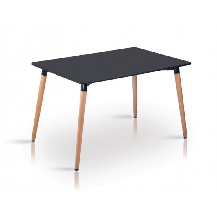 Table De Salle A Manger Design En Bois Coloris Noir Luberon