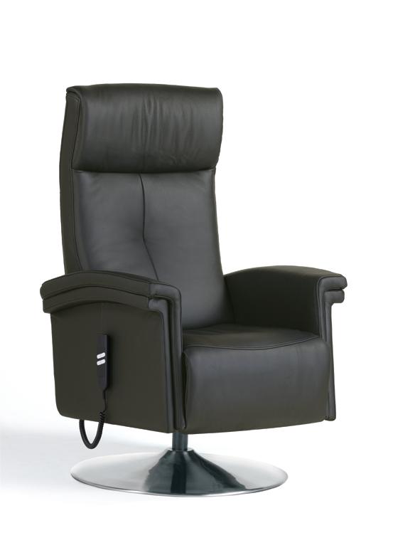 Fauteuil de relaxation 100% cuir électrique avec repose-pieds intégré PRIDE