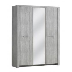 Armoire contemporaine 3 portes chêne clair Melinor