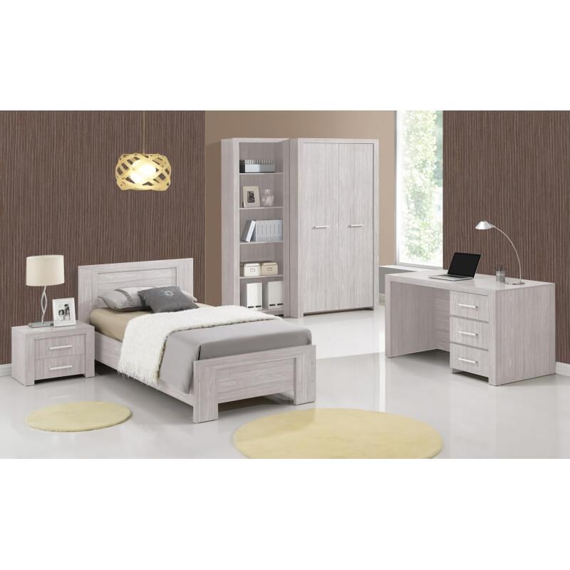 bureau enfant contemporain 3 tiroirs ch ne clair melinor. Black Bedroom Furniture Sets. Home Design Ideas