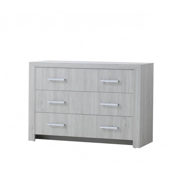 Commode contemporaine 3 tiroirs chêne clair Melinor