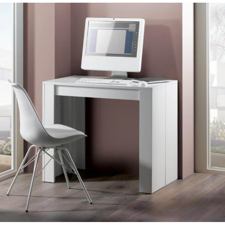 Console extensible design blanche 223 cm Colombine