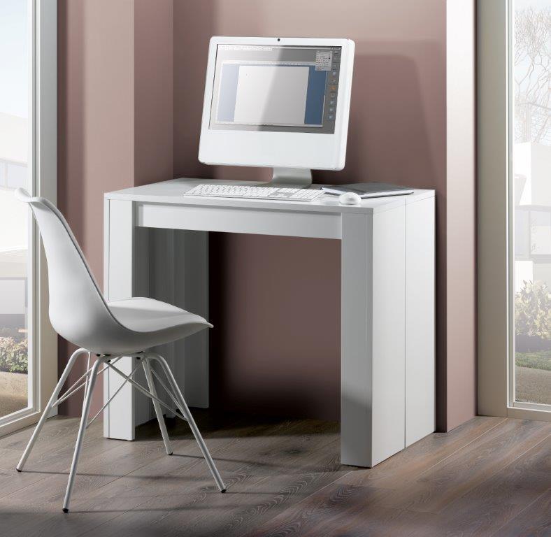 Console extensible design blanche 270 cm Colombine