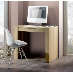 Console extensible contemporaine coloris chêne 223 cm Colombine
