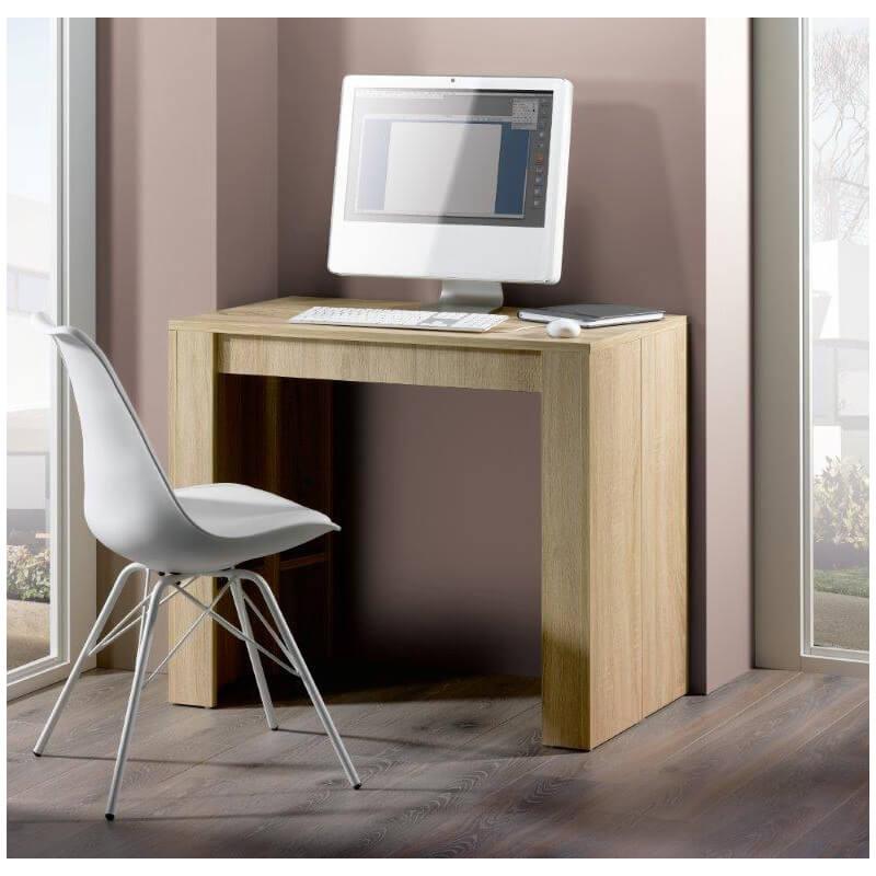 console extensible contemporaine coloris ch ne 223 cm colombine matelpro. Black Bedroom Furniture Sets. Home Design Ideas