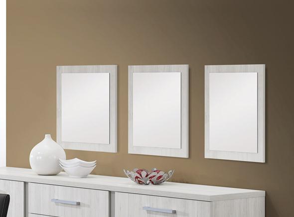 Miroir de salle à manger carré chêne clair Cynthia