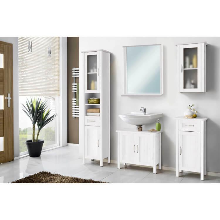 Ensemble de salle de bain contemporain blanc 5 éléments Oscaro
