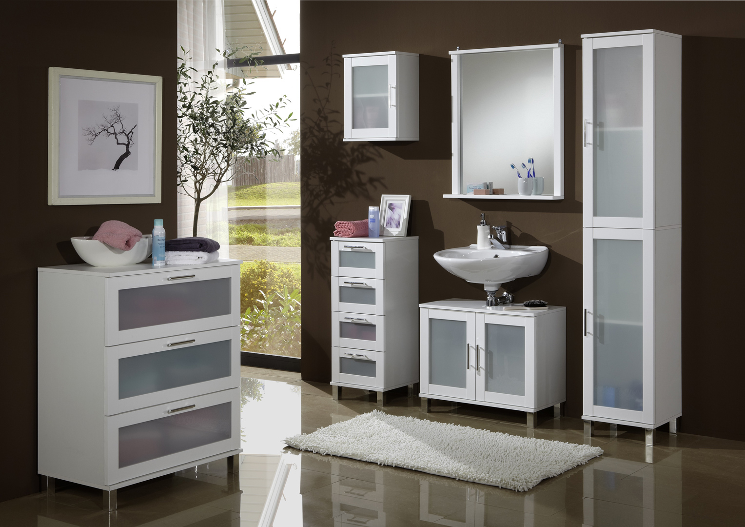 meuble haut de salle de bain contemporain blanc 1 porte campos. Black Bedroom Furniture Sets. Home Design Ideas