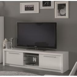 Meuble TV design 180 cm laqué blanc Adamo