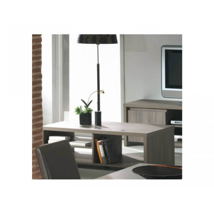 Table basse rectangulaire contemporaine chêne ethnique Hondo