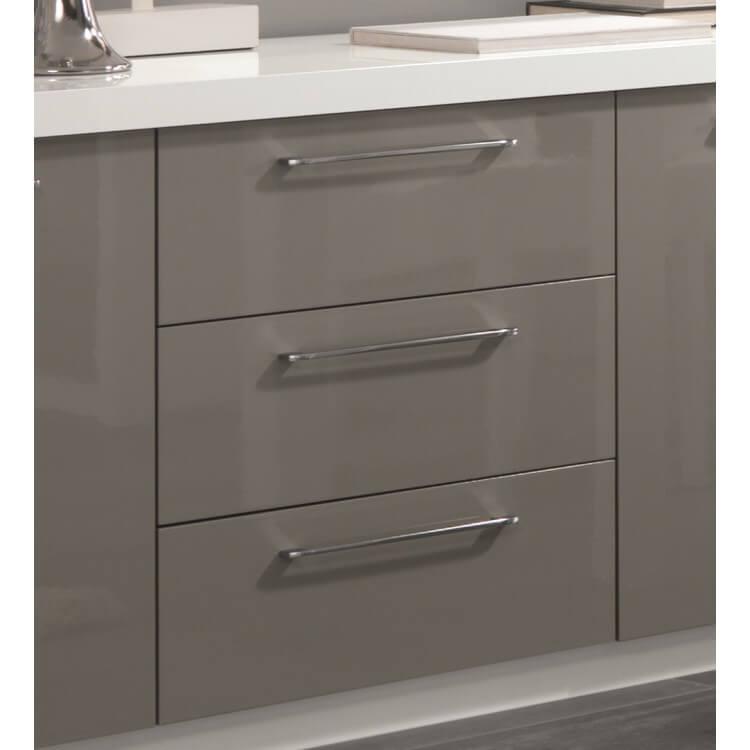 buffet bahut design 2 portes 3 tiroirs laqu blanc gris agadir matelpro. Black Bedroom Furniture Sets. Home Design Ideas