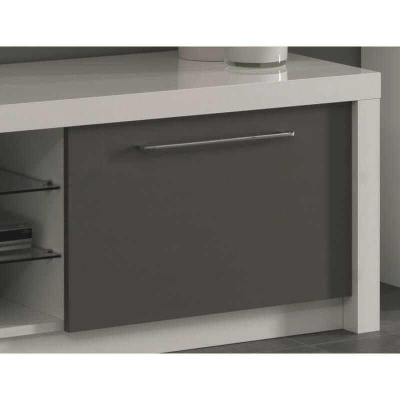 Meuble tv design 180 cm laqu blanc gris agadir matelpro - Meuble tv design 100 cm ...