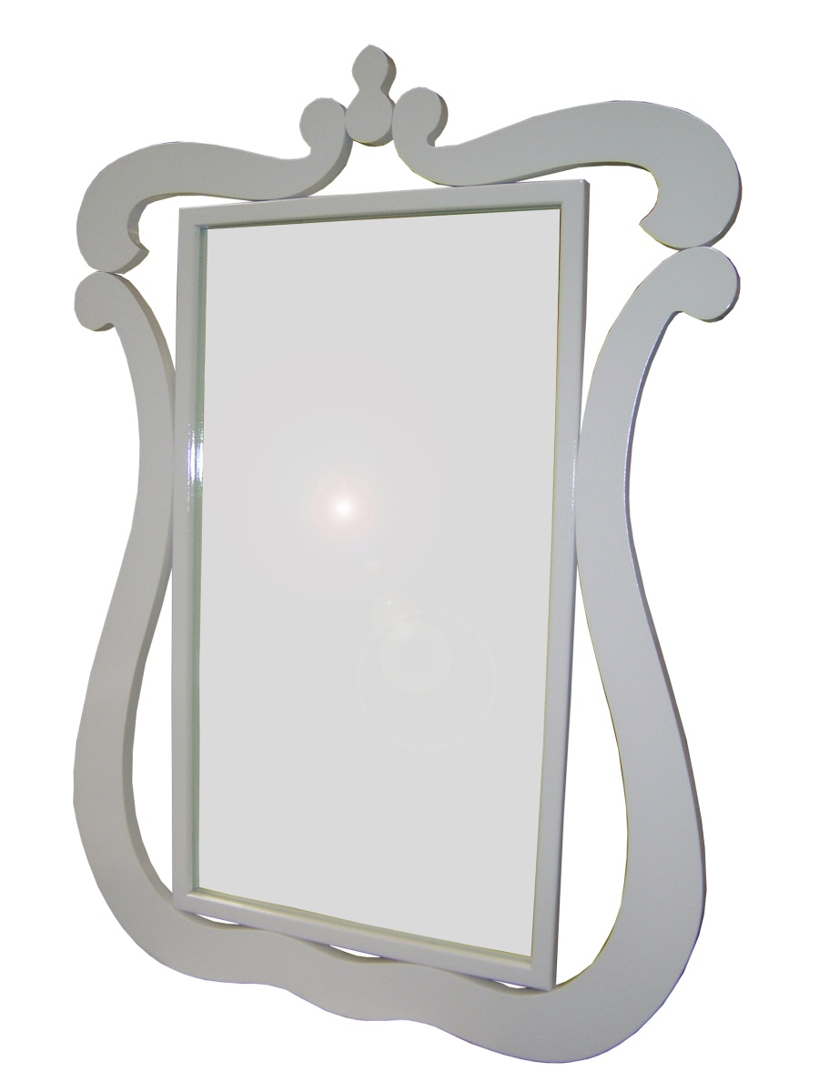 Miroir rectangulaire ELISABETH-Blanc