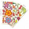 Coffret stickers 64 pièces FLEURS
