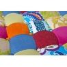 Pouf design carré en tissu pacthwork multicolore Sao Paulo