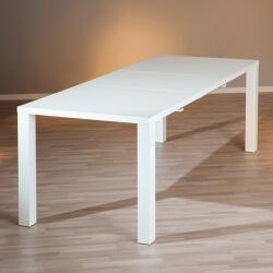 Table de salle à manger extensible design laquée blanche Watoo