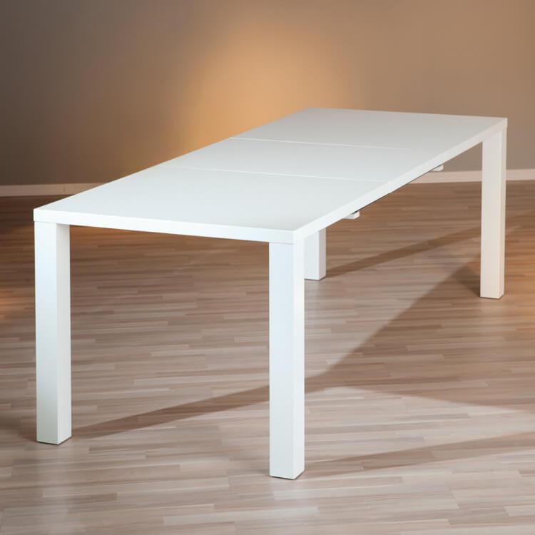 Merveilleux Table De Salle à Manger Extensible Design Laquée Blanche Watoo