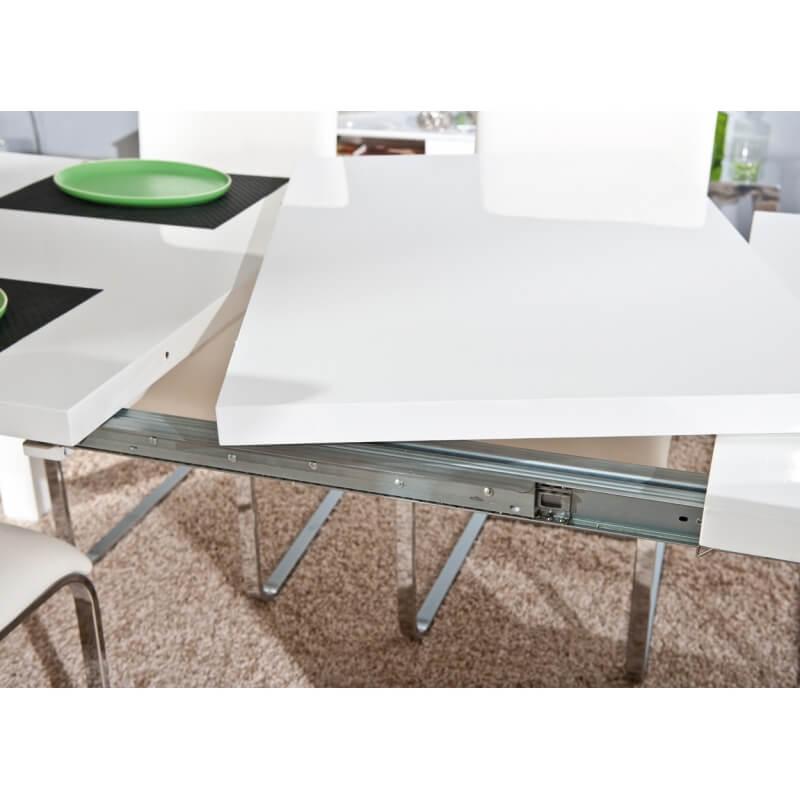 table de salle manger extensible design laqu e blanche watoo matelpro. Black Bedroom Furniture Sets. Home Design Ideas