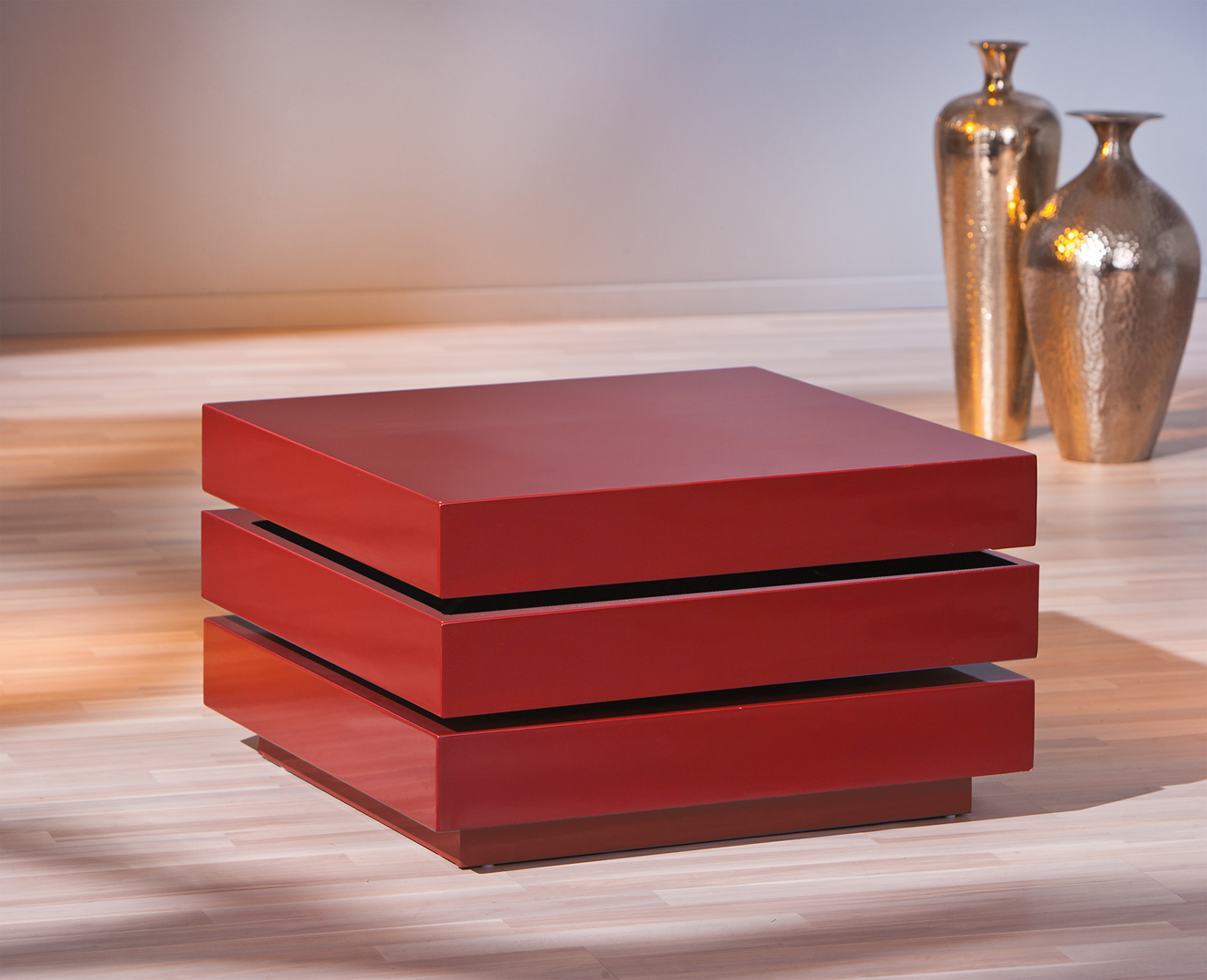 Modulable Star Laquée Table Rouge Design Basse ImfvbyY6g7