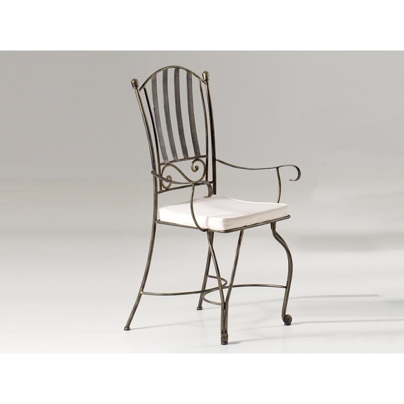 fauteuil fer forg de salle manger verone matelpro. Black Bedroom Furniture Sets. Home Design Ideas