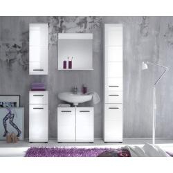Ensemble de salle de bain design 5 éléments coloris blanc Kyrios