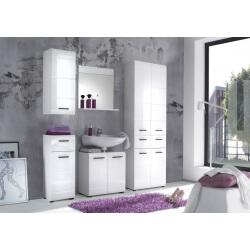 Ensemble de salle de bain design 5 éléments coloris blanc Kyrios III
