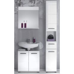 Ensemble de salle de bain design 3 éléments coloris blanc Kyrios