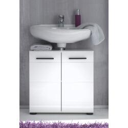 Meuble sous lavabo design 2 portes coloris blanc Kyrios