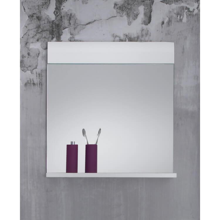 Miroir de salle de bain rectangulaire coloris blanc Kyrios | Matelpro