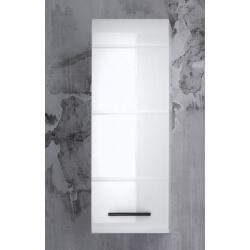 Meuble haut de salle de bain design 1 porte coloris blanc Kyrios