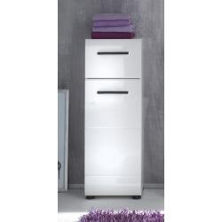 Meuble bas de salle de bain design 1 porte/1 tiroir coloris blanc Kyrios