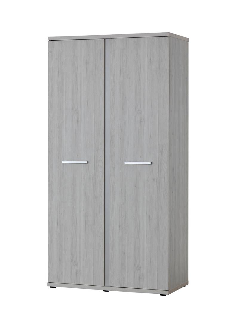 Armoire 2 portes contemporaine coloris chêne clair Karina